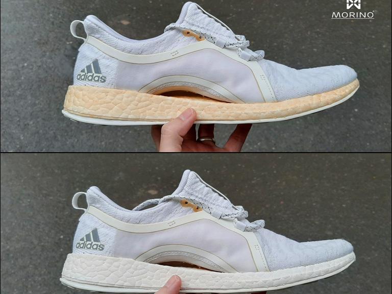 Quy trình repaint sơn phục hồi màu đế giày